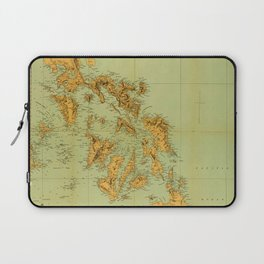 Map Of The Philippines 1898 Laptop Sleeve