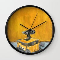 rothko Wall Clocks featuring Wall-E and Rothko by Renee Bolinger