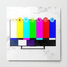 Test TV Metal Print