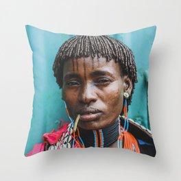 Tmesay Tribeswoman Throw Pillow