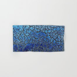 Blue Crackle Pattern Hand & Bath Towel