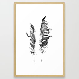 Two Feathers Framed Art Print