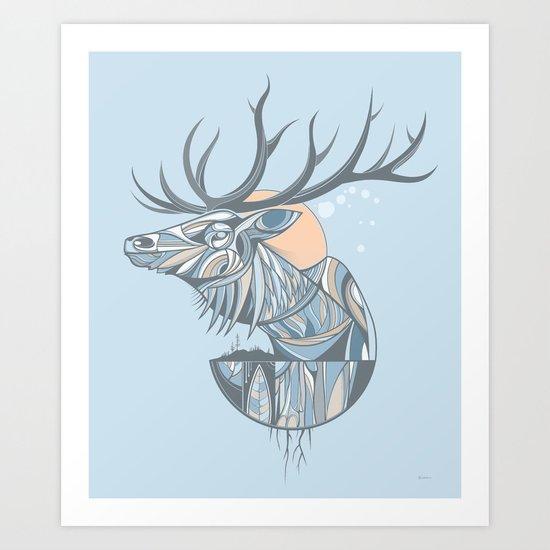 elk root blue Art Print