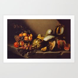 "Michelangelo Merisi da Caravaggio ""Still Life with Fruit"" Art Print"