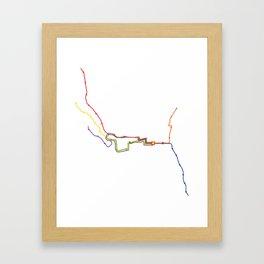 Running through the (614) Framed Art Print