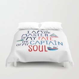 Nautical Typography Duvet Cover