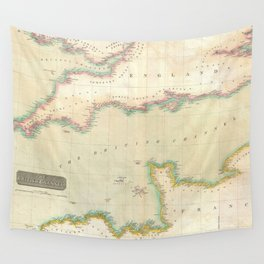 Vintage Map of The English Channel (1814) Wall Tapestry