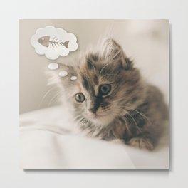 Dreaming Cat Metal Print