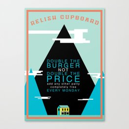 Double The Burger Canvas Print
