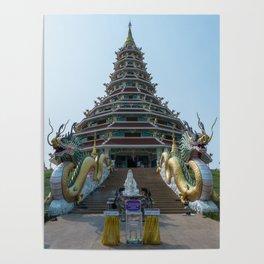 Buddhist Pagoda, Chiang Rai, Thailand Poster