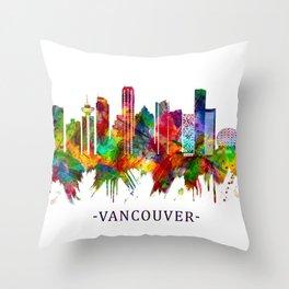 Vancouver Canada Skyline Throw Pillow