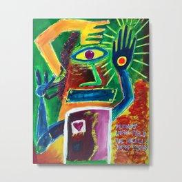 """Infinitely Wrong I Bet"" Surrealist Expressionism Artwork Metal Print"