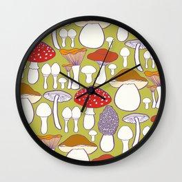 All my mushrooms Wall Clock