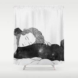 The feeling is indescribable Shower Curtain