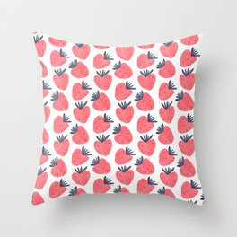 Sweet Strawberries Throw Pillow