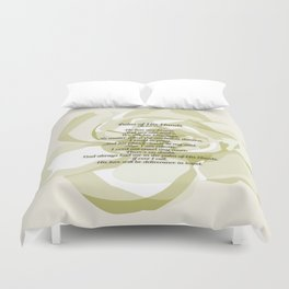 Palm of His Hands Duvet Cover