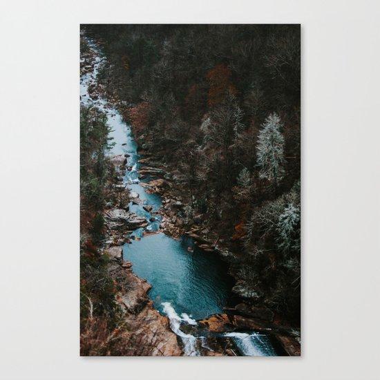Blue Creek #landscape #society6 Canvas Print