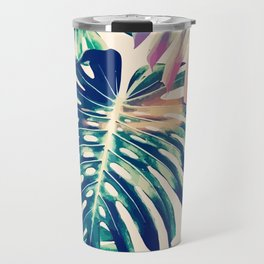 Monstera Leaves Travel Mug
