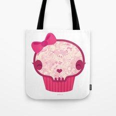 Cupcake Skull Tote Bag