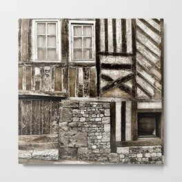 Rustic Old Wood and Stone House Metal Print