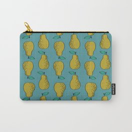 Pear stripes fruit pattern by andrea lauren pears home decor illustration food art Carry-All Pouch