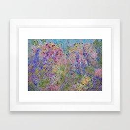 Spring Hydrangeas, Pastel Abstract, Modern Painting Framed Art Print