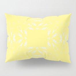 Lemon Yellow Color Burst Pillow Sham