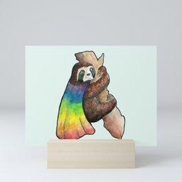 the gay hero sloth Mini Art Print
