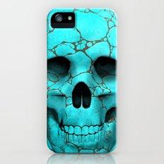 turquoise skull iPhone (5, 5s) Slim Case