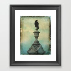 Ornate Crow Framed Art Print