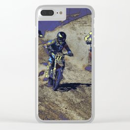 The Home Stretch - Motocross Racers Clear iPhone Case