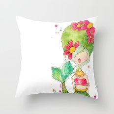 one mod merm. Throw Pillow
