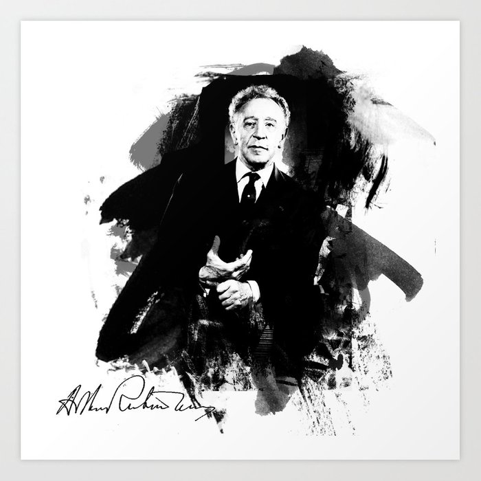 Arthur Rubinstein Art Print by vivalarevolucion