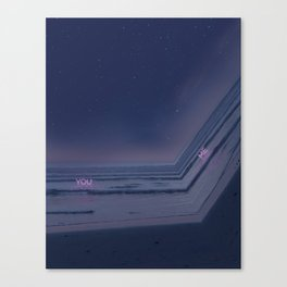 Drifting in and out. Canvas Print