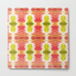 Color Wash Aztec Rug Metal Print