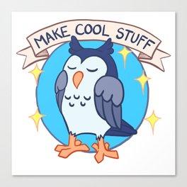 Make Cool Stuff owl emblem Canvas Print