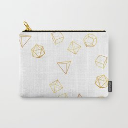 Platonic - Gold Carry-All Pouch