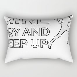 I Run Like A Girl Rectangular Pillow