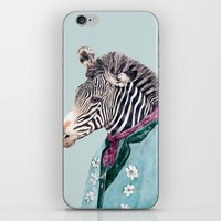 zebra iPhone & iPod Skins featuring Zebra by Animal Crew