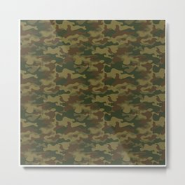 Camouflage Pattern | Camo Stealth Hide Military Metal Print