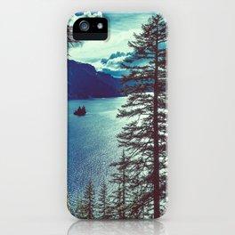 Crater Lake Vintage Summer iPhone Case