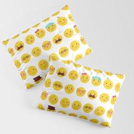Cheeky Emoji Faces Pillow Sham