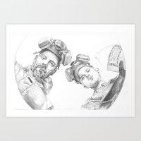 Breaking Barrel Art Print