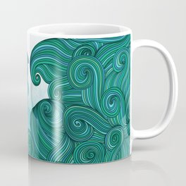Surfer dude hangin ten and catching a wave Coffee Mug