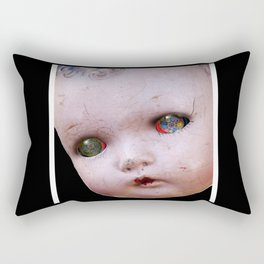 Red-Eyed Mentalembellisher Halloween Doll Rectangular Pillow