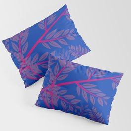Bisexual Pride Overlapping Simple Leafy Branches Pillow Sham
