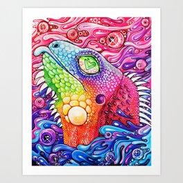 GlitterIguana Art Print