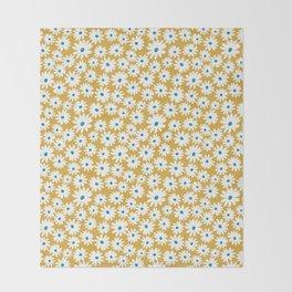 Daisies - Spring - Yellow Throw Blanket