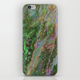 Green Inverted Pour 6 iPhone Skin