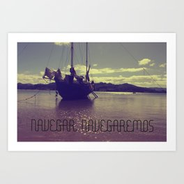 Palabras ( words ) sail , sail  Art Print